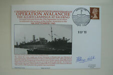 HOCKADAY NAVY COVER OPERATION AVALANCHE SIGNED R/ADM. F.B.P. BRAYNE-NICHOLLS