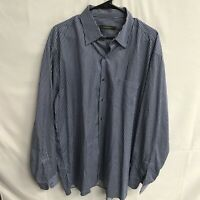 🌴🔥Ermenegildo Zegna Men's Button Down LS Shirt 2XL Striped🔥Free Ship