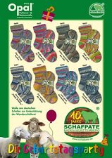 8 x 100 gr. Sockenwolle/Strumpfwolle Opal Schafpate X  -  Die Geburtstagsparty
