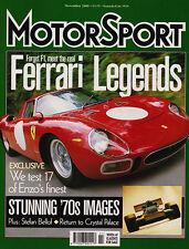 Motor Sport Nov 2000 - Ferrari Legends, Peter Collins, Stefan Bellof, Chaparral