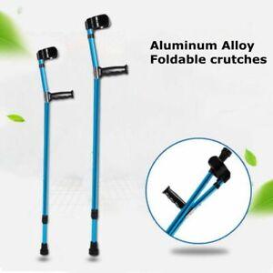 Aluminum Alloy Height Adults Foldable Heavy Duty Walking Forearm Crutch Stick