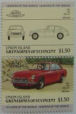 1965 MG MGB-GT Car Stamps (Leaders of the World / Auto 100)