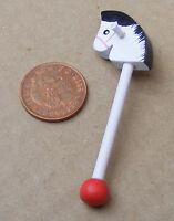 1:12th Wooden Hobby Horse Dolls House Miniature Nursery Garden Toy Accessory 099