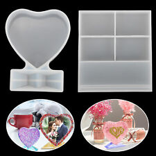 Silicone Resin Molds Epoxy Casting Heart Shape Rectangular Picture Photo Frame