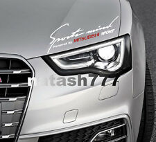 Sports Mind Powered by MITSUBISHI Sport Racing Decal sticker emblem WHITE/RED
