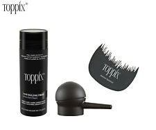 Toppix Hair Building Fibers Big size 27.5g With Spray Applicator+Free comb Fast