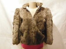 Women's PRINCESS CARAVELLE Silver Grey Rabbit Fur Jacket Size 8
