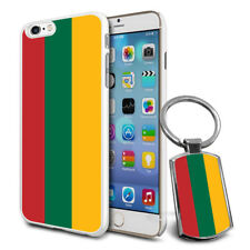 Lithuania Flag Hard Case Cover & Free Keyring For Various Mobiles
