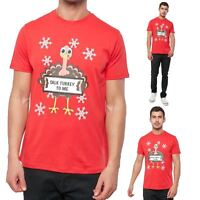 Mens Threadbare Novelty Funny Naughty Turkey Xmas Christmas Festive T-Shirt Top