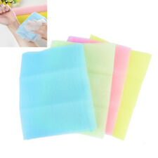 Nylon Mesh Bath Shower Body Washing Cleaner Exfoliate Puff Scrubbing Towel Q9Q