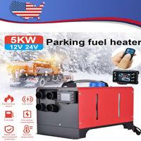 Parking Air Diesel Fuel Heater Set 5KW 12V For Car Truck Bus Diesel Air Heater