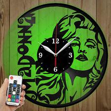 LED Vinyl Clock Madonna LED Wall Art Decor Clock OriginalGift 2703
