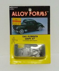 1941 Plymouth Coupe ALLOY FORMS Kit #H-2027 HO Scale New Old Stock