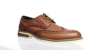 Unlisted by Kenneth Cole Mens Jimmie Cognac Wing Tips Size 11 (1496105)