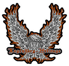 LEGENDARY HERITAGE MOTORCYCLE PATCH P5320 eagle flames BIKER eagles wings new