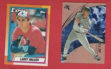 2 Card Lot of Montreal Expos Larry Walker