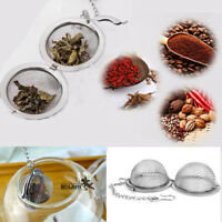 Hot Steel Sphere Locking Spice Tea Spice Ball Strainer Mesh Infuser Filter