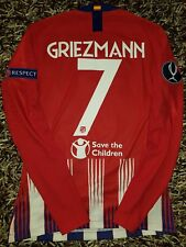 GRIEZMANN MATCH WORN shirt Atletico de Madrid Supercup Real Madrid France Mbappe