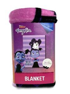 "Disney Junior Vampirina Fangtastic Kids Plush Super Soft Throw Blanket 62"" X 90"""