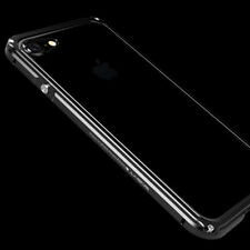 For iPhone 7 X 8 Plus Aluminum Metal Frame Bumper Case Hard Clear Armor Cover