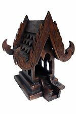 Thai Spirit House teak wood altar shrine buddha temple handmade craft buddhist