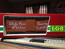 G Scale LGB White Pass & Yukon Boxcar  4167