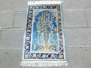 Silk Rug 2x3, Antique Rug,Bohemian Rug,Boho Rug,Turkish Rug,Vintage Rug,Old Rug.