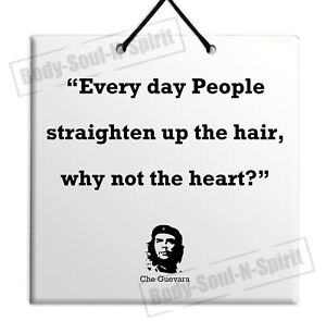 SALE Che Guevara Quote Wooden Wall Hanging Plaque TILE Home Decor Gift Sign