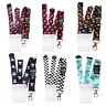 Waterproof Clear Vertical ID Card Badge Holder + Spirius Lanyard Neck Strap