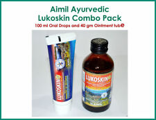 Aimil Ayurvedic Lukoskin Combo Pack of 100 ml Oral Drops and 40 gm HERBAL