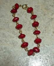 Burgundy Bead Necklace for Gene & Friends Doll