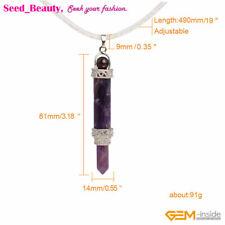 Natural Purple Amethyst Quartz Stone Reiki Healing Charm Pendant Necklaces Gift