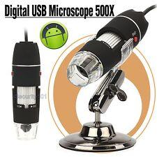 Magnifier 50-500x HANDY USB Digital 2Mega Pixel LED Light Android OTG Microscope