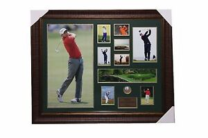Sergio Garcia Signed Golf Ball with Poster and Frame