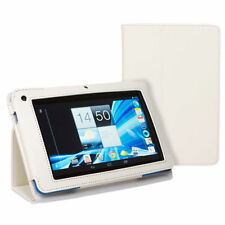 White Leather Tablet & eReader Cases, Covers & Keyboard Folios for Acer