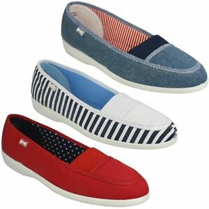LADIES FREESTEP SLIP ON CANVAS COMFORTABLE CASUAL FLAT TRAINERS SHOES SIZE PATCH