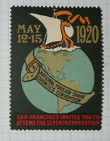 Natl Foreign Trade Council 1920 San Fran CA Company Brand Ad Poster Stamp