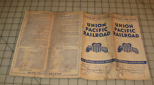 1947 UNION PACIFIC RR Strategic Middle Route Condensed Time Tables Brochure
