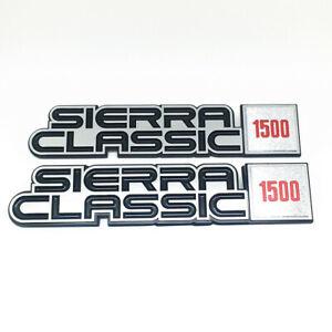 GMC Sierra Classic 1500 2p Fender Nameplate 1984 1985 1986 1987 1988 1989 Emblem