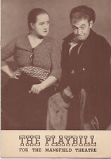 1940 Playbill Juno and The Paycock Barry Fitzgerald Sara Allgood