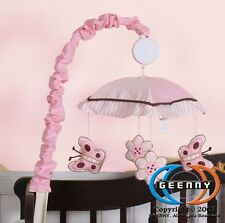 Musical Mobile For Pink Brown Butterfly Bedding Set