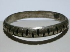 DOUBLE TREE SIGNED MEXICO MEXICAN STERLING SILVER BANGLE BRACELET MODERN TS-30