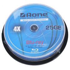 50 Aone Bluray Blu-ray Completo Cara Imprimible Discos en Blanco 25GB 4x BD-R