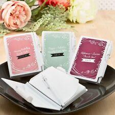50 Personalized Vintage Design Notebook Wedding Shower Gift Favors
