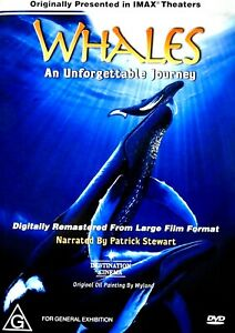 Whales: An Unforgettable Journey (DVD) Narrated by Patrick Stewart