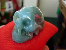 Crystal skull Chinese amazonite Ja12