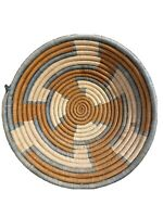 Coil Basket Hand Made Art Coiled Woven Boho Rustic Bowl Tray Dish