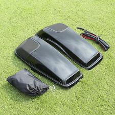 Saddlebag Lid Speaker Cutouts w/ Grill For Harley Touring FLT FLHT FLHTCU 14-18