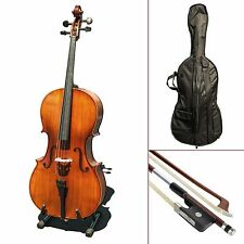 Paititi CE3005PE Scholar 256 Ebony Fitted Matte Finish Solid Wood Cello 4/4 Size