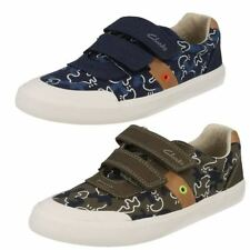 Canvas Casual Trainers Shoes for Boys with Hook & Loop Fasteners